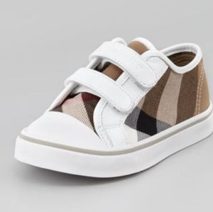 Toddler Burberry Sneaker-Meacham Check Print